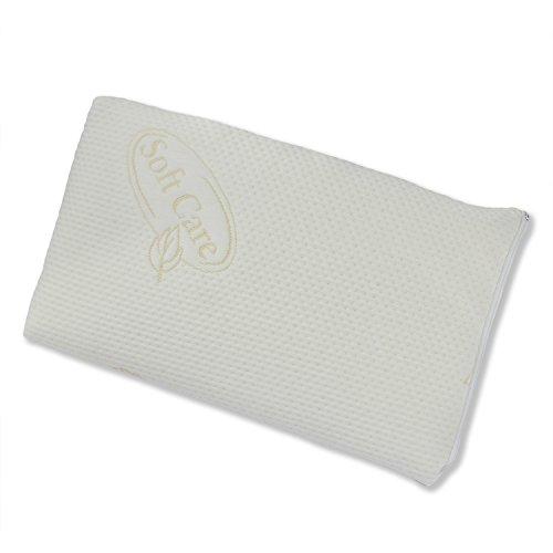 Sabeatex Mini 50 x 30 x H 6 cm, Nackenstützkissen als zusätzliches Kissen auf Ihr Kopfkissen. Druckausgleichender Visco-Gelschaum. Ideal auch für Flach- und Bauchschläfer.