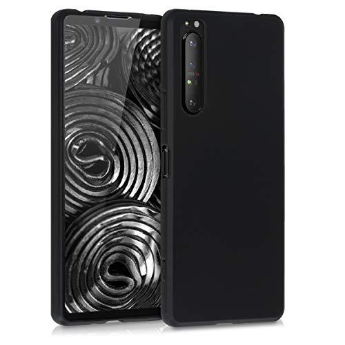 kwmobile Hülle kompatibel mit Sony Xperia 1 II - Hülle Silikon - Soft Handyhülle - Handy Hülle in Schwarz matt