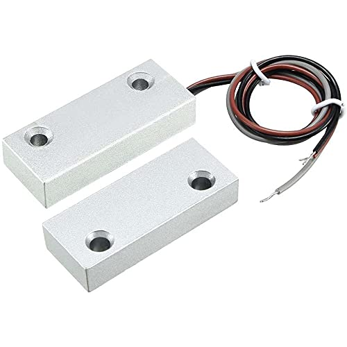 Yuyanshop uxcell - Alarma magnética con interruptor de cañas para puerta rodante con 3 cables para aplicaciones N.O./N.C. MC-52