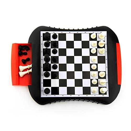 iBaste Juego de ajedrez, tablero de ajedrez, cajón portátil, tablero de ajedrez, pieza de ajedrez, rompecabezas, juego de mesa, juego de ajedrez, tablero de ajedrez magnético