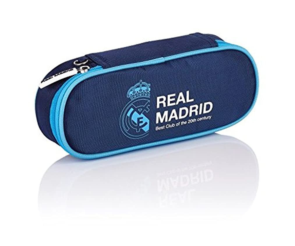 Real Madrid Madrid 3 Pencil Cases, 23 cm, 1.5 liters, Blue (Navy Blue)