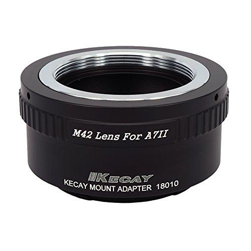 KECAY® Adaptador de Montaje de Lente M42 42mm Tornillo Adaptador a Sony A7II A7S A7RII Cámara