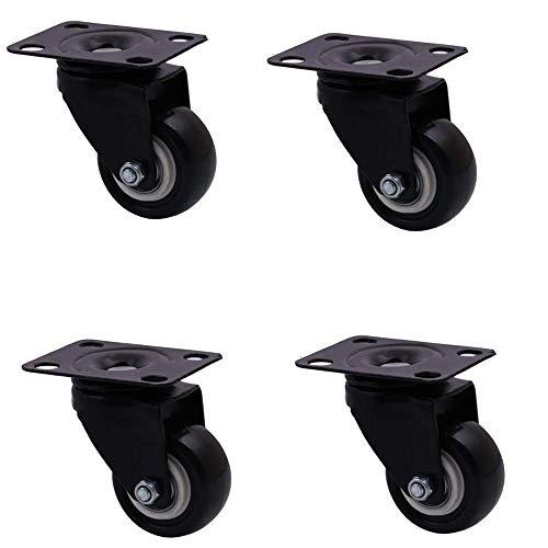 ZXL wielen (4 geïnstalleerd) stuur voor service, 2 inch, eettafel, eettafel, kruiwagen, kleine wielen en kasten, dubbele kogellagers geïntegreerd, slijtage
