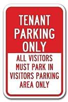 ティンサインの個人化されたデザイン、テナント駐車場のみ他の人が訪問者の駐車場に駐車する必要があります、ヤードアイアンポスター絵画ティンサインカフェバーパブホームビールの装飾のためのヴィンテージの壁の装飾