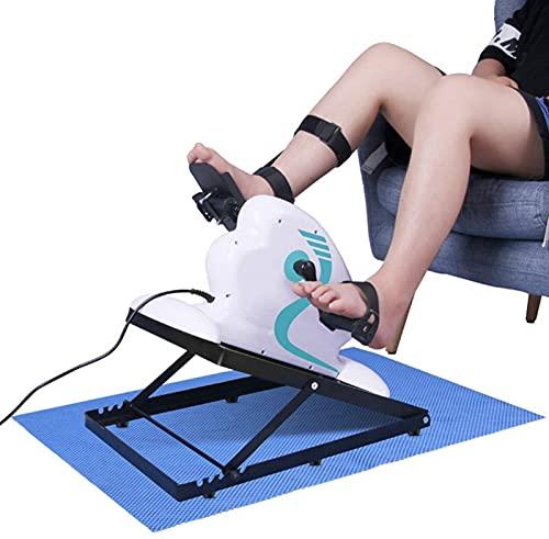FDGSD Ejercitador de Pedales Mini Bicicleta de rehabilitación eléctrica portátil, Terapia física de Brazos y piernas para discapacitados discapacitados y sobrevivientes de Accidentes cerebrovascul