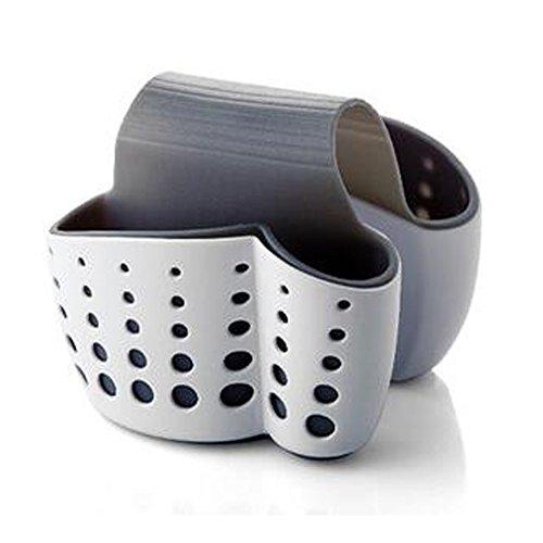 tuutyss Entwässerung Küche Sattel Waschbecken-Caddy Schwamm Halterung für Gasabscheider, sponges-plastic weiß