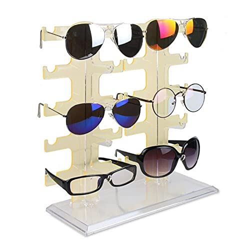 Soporte de Exhibición para Gafas Ensamblable 5 capas Convenientes gafas de plástico Mostrar anteojos Soporte Soporte de gafas de sol Soporte Marco de moda Joyería Pantalla Escaparate de Gafas