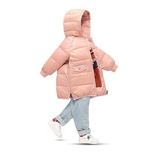 Ramingt-Clothing Veste à Capuche Kid Les Petits garçons et Les Filles Manteau à Capuchon Zipper Manteau d'hiver Veste d'hiver Enfants Manteau d'hiver Mince (Color : Brown, Size : 120cm)