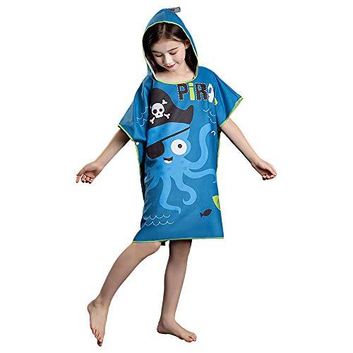 Kinder Handtuch Poncho Mikrofaser Andern Sie Robe,Surfen Wechseln Handtuch Robe Mit Kapuze,Schwimmen Schnorchel Strand Poncho …