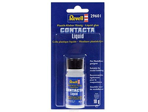 Revell 29601 Contacta Liquid, Flüssigkleber mit Pinsel 29601-Revell-Flaschenkleber/SB geblistert, No Colur