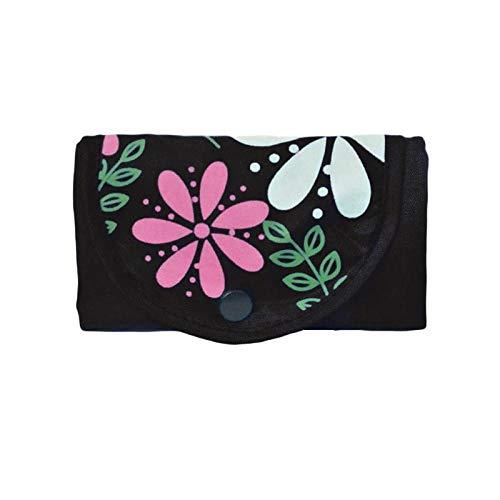 Hayandy Frauen tragbare Oxford Tuch Falten Einkaufstasche Umwelt Wiederverwendbare Tasche Multifunktions große Kapazität Casual Handba-Schwarz