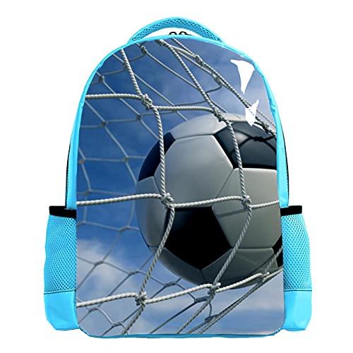 Mochila para niños Futbol Deportivo Mochilas Escolares para niños y niñas Mochilas Escolares Creativo para Viaje de Estudios 26.6x20x42cm
