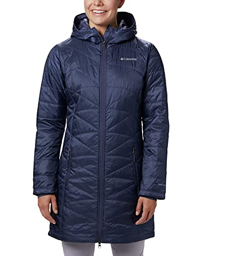 Columbia Mighty Lite - Chaqueta con capucha para mujer, Mujer, 1468771, nocturnal, XS