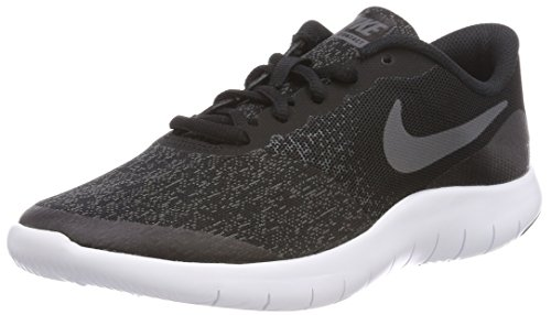 Nike Kids Flex Contact (GS) Running Shoe, Black/Dark Grey/Anthracite, 4.5 Big Kid