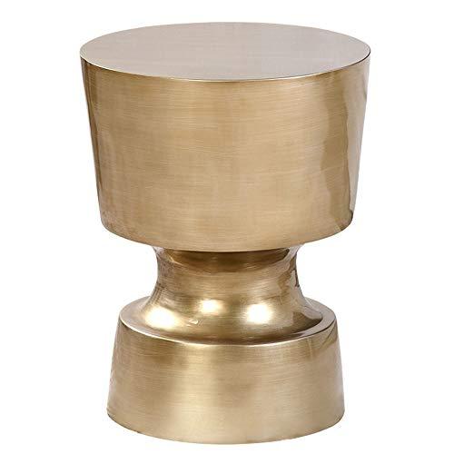 ZMCOV Couchtisch Rund, Kleine Couchtische Für Das Wohnzimmer, Beistelltische Sofa, Moderner, Trendiger Beistelltisch/Nachttisch,Bronze