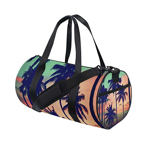 ➧Size: 17.6x9x9 inches(LxWxH) ➧Quality material:Made with durable high quality material canvas that will satisfy you. ➧Interior design:1 main pocket, 1 side pocket, 1 side zipper pocket, 1 interior compartment and 1 shoulder strap. ➧Fashion style: Th...