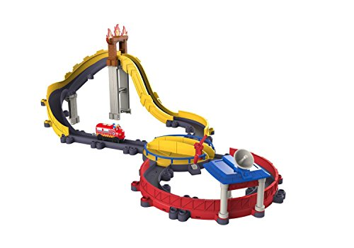 Tomy Chuggington - LC54256 - Circuit de Trains Miniatures et Rails - Circuit Motor' Wilson à la Rescousse