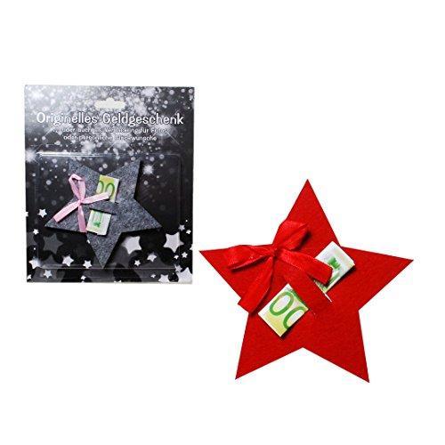 Udo Schmidt Estrella de fieltro para regalo de dinero, aprox. 12 x 12 cm