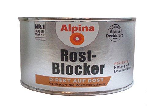 Alpina 300 ml Rost-Blocker, Direkt auf Rost, Perfekte Haftung auf Eisen und Stahl
