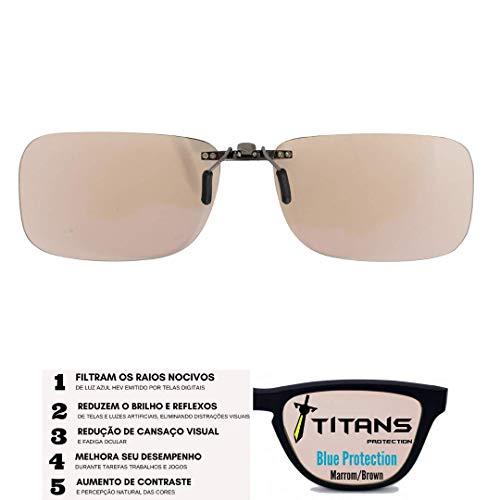 Titan Sports Clip-on-m Clip-on Proteção Luz Azul E Solar Titans – Marrom - Not_machine_specific