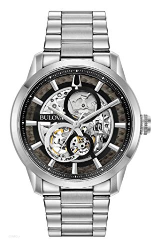 Bulova Herren Analog Automatik Uhr mit Edelstahl Armband 96A208
