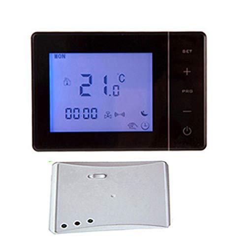 Homyl Thermostat Programmable Sans Fil Chaudière à Gaz Groupe de Chauffage - Noir