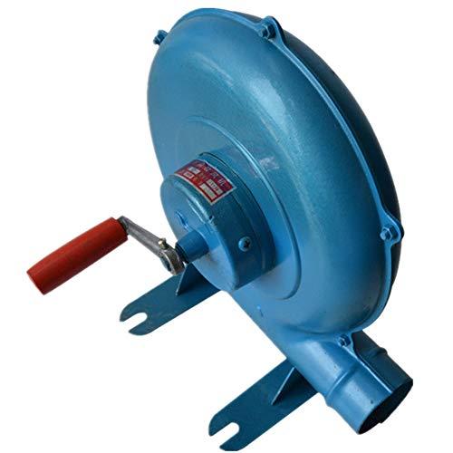 Wumudidi Handkurbel Schmied Schmiede Gebläse, BBQ Fan Kohle Feuerzeug Grill BBQ Feuerzeuge Fan-Blue,300W
