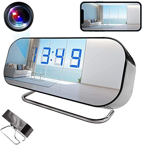 Clock Camera,WiFi Alarm Clock Camera AMCSXH HD 1080P Wireless Clock Nanny...
