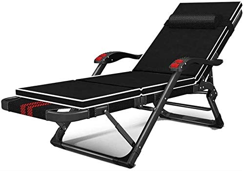 JIADUOBAO - C - Silla plegable plegable plegable para exteriores, de hierro forjado, portátil, silla plegable para oficina, siesta, cama plegable C (color : B)