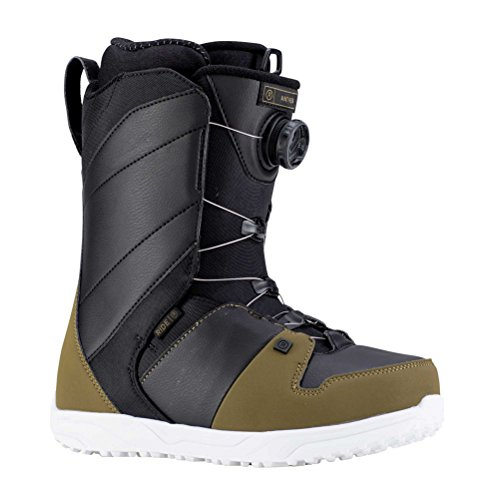 Ride Mens Anthem Snowboard Boots, Olive Black, 10.5