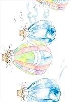 igsticker ポスター ウォールステッカー シール式ステッカー 飾り 364×515㎜ B3 写真 フォト 壁 インテリア おしゃれ 剥がせる wall sticker poster 015557 気球 パステル 花