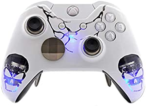 Skull White Xbox One Elite Rapid Fire Custom Modded Controller 40 Mods for All Major Shooter Games, Auto Aim, Quick Scope, Auto Run, Sniper Breath, Jump Shot, Active Reload & More