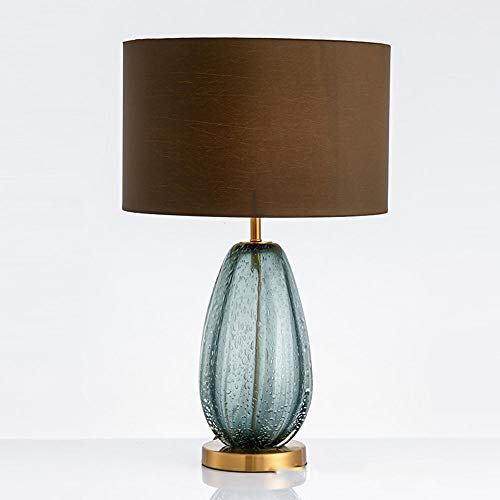 BICCQ table lamps Glass Lamp Simple Bedroom Bedside Lamp Light Luxury Seating Crystal Table Lamp 1 * E27 (40 * 65CM)