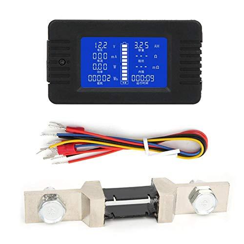 Batterietester PZEM-015 Multifunktionales Batteriemessgerät Strom Spannung Leistung Energieverbrauch Kapazität Teste mit Handbuch(mit 200A Shunt)
