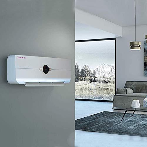 Haushaltsgeräte Wandheizlüfter Easy2020 Silber · Heizlüfter mit Thermostat und Oszillation · SCHNELLES AUFHEIZEN · Digitale LED-Anzeige (4-farbig) · Wandheizgerät mit Fernbedienung · 1000W/2000W