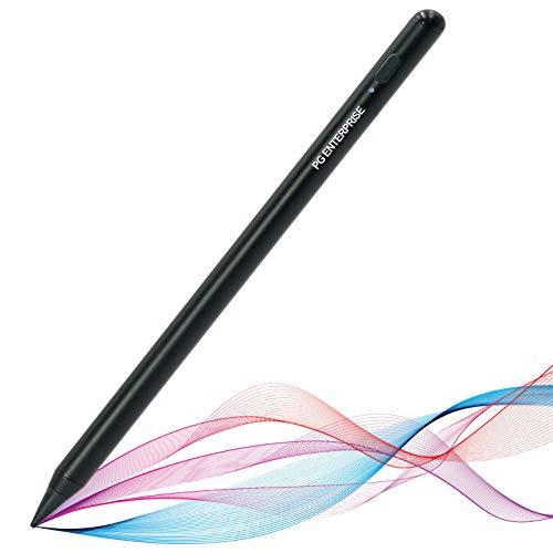 PG Enterprise Penna per iPad Touch Stilo Universale iOS Pennino 1.5mm Ricaricabile Usb-C Alta Precisione Grafica per Scrivere Disegnare Prendere Appunti Giocare (Black)