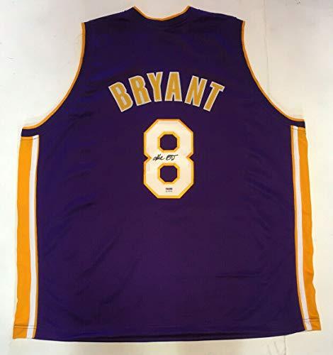 Kobe Bryant signed #8 Purple LA Lakers jersey mint vintage autograph PSA/DNA COA