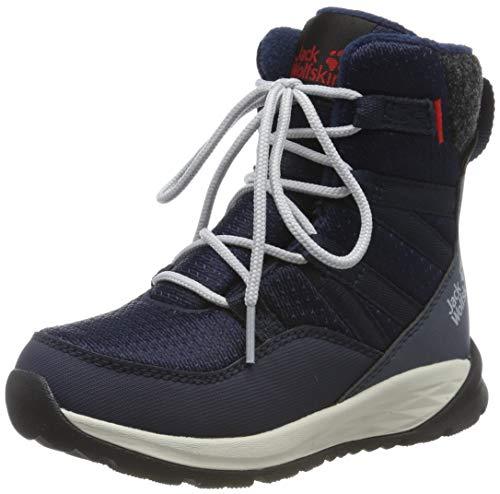 Jack Wolfskin Unisex Kinder Polar Bear Texapore HIGH K Wasserdicht Bootsschuh, Dark Blue/Off-White, 35 EU