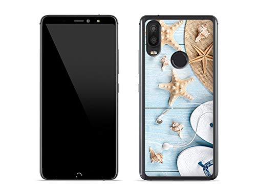 Hülle für BQ Aquaris X2 Pro - Hülle Foto Hülle - Seesterne Handyhülle Schutzhülle Etui Hülle Cover Tasche für Handy