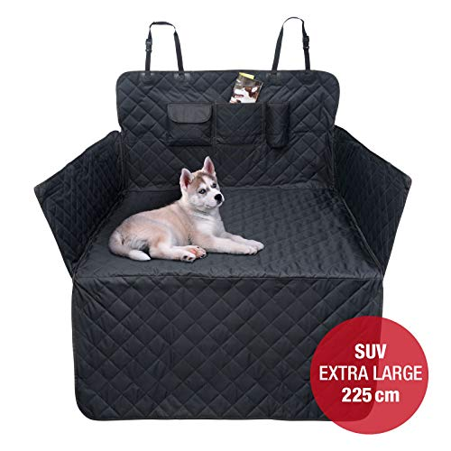 JAMAXX Auto Kofferraum XXL Schondecke für SUV Kombi Extra-Lang 225cm Seitenschutz Hunde-Decke Wasserdicht