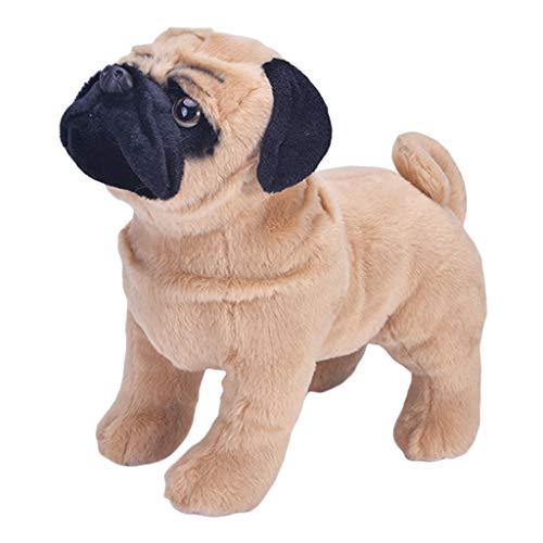 F Fityle Figuras de Animales de Simulación - Juguete de Felpa para Perros Pug para Niños Pequeños, Niñas, Niños, Hogar