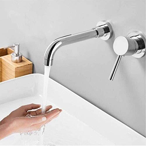 (agua) grifo; grifo; Bibcock montaje en pared cromo/negro baño montaje empotrado caliente frío latón sólido grifo mezclador monomando doble agujero grifo grifo baño lavabo