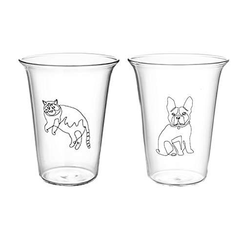 350ml Cartoon Katze Glas Becher Wärme-beständig Kaffee Milch Becher Handgemachte Bier Becher Tee Glas Whisky Transparent Glas tassen Drink