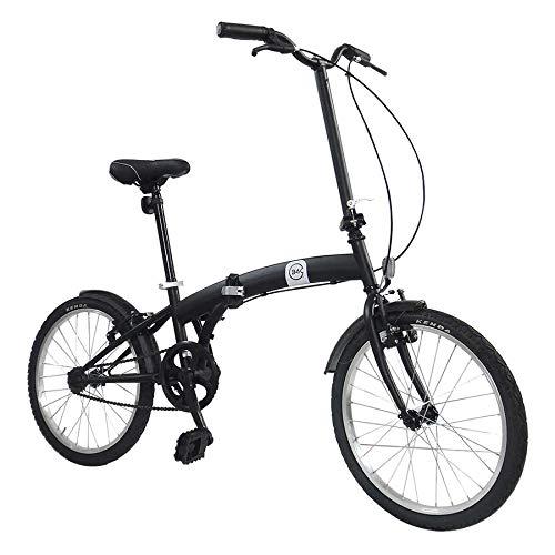 Bici Pieghevole Ruote 20' Nero Opaco Dimensioni Chiusa 65x82,5x35 cm