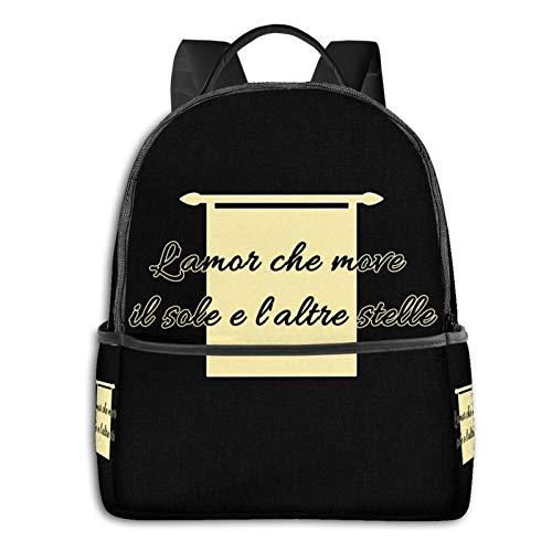 Dante, Italian Culture, Divina Commedia, Divine Comedy, Dante Alighieri, Funny, Student School Bag School Cycling Leisure Travel Camping Outdoor Backpack