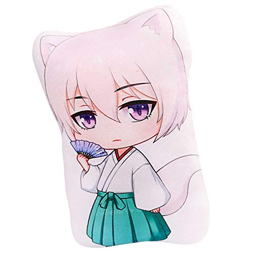 Bowinr Kamisama Kiss: Tomoe Throw Pillow, Super Kawaii Anime Plush Toy for Home Sofa Decor(Style 01)