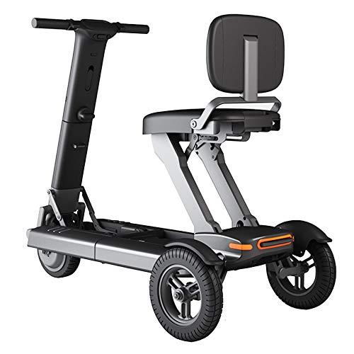 LIYIN Scooters de Movilidad eléctricos Plegables y Ligeros con batería de Litio, 3 Ruedas, para Personas Mayores y discapacitadas (soporta 120 kg de Peso, 3,98 mph, Negro)