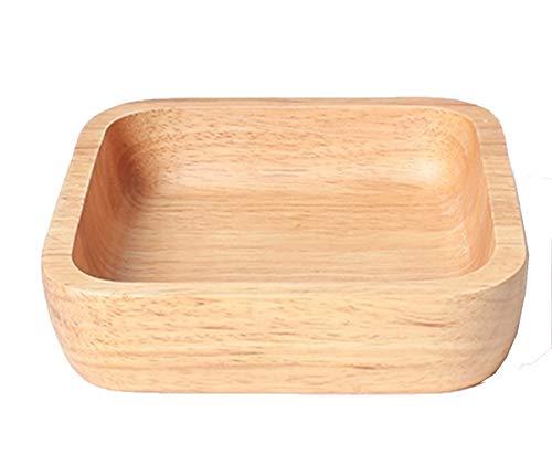 NANXCYR Pizza BoardCreative Wooden Tray Square Piatto di legno Rotondo Piatto Giapponese Stile Piatto Piatto Vassoio,18 * 18 * 4.5cm