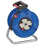 Brennenstuhl Garant BN-HASP02 - Extensiones de corriente, Interior 25m (De plástico, Negro, Negro, Azul)