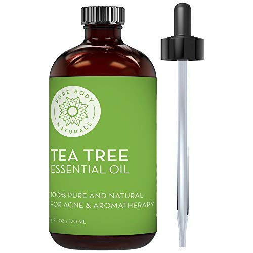 Pure Body Naturals Tea Tree Essential Oil, 4 Fluid Ounces, Natural...